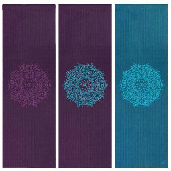 yoga mat mandala centric blauw paars