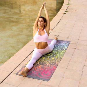 MiFlow mandala yoga mat regenboog