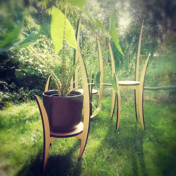 plantenstaander of houten sokkel voor interieur objecten