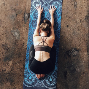 MiFlow mandala yoga mat blauw