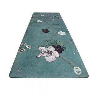 felicidade eco premium yoga mat Greengo met bloemen motief