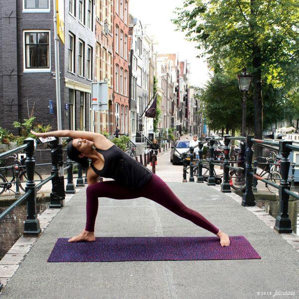 felicidade eco premium yoga mat jean's roses