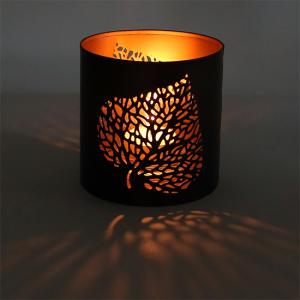 sfeerlicht voor theelicht met bladmotief