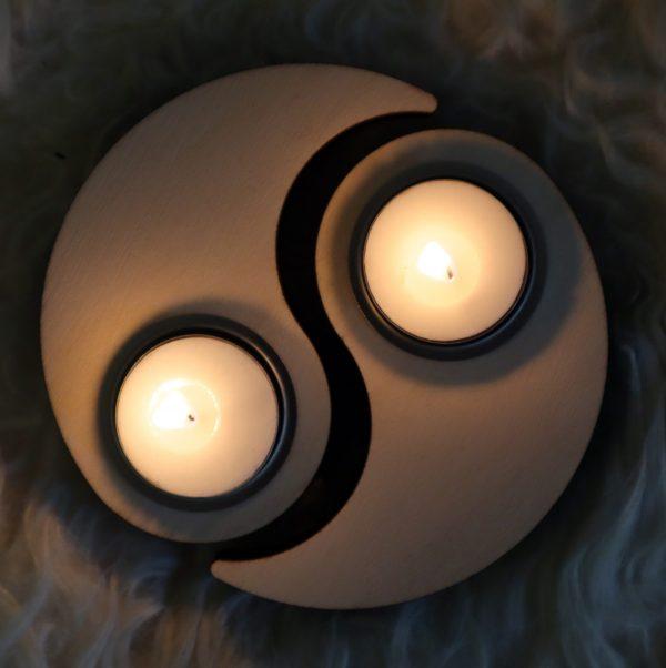 houder voor theelicht ying yang